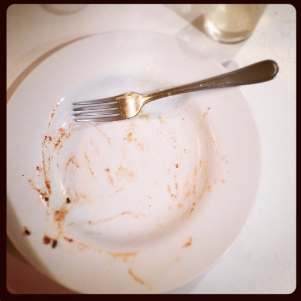 a picture of an empty plate